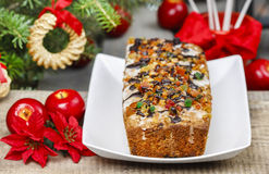 Fruitcake with dried fruits and nuts Stock Photo