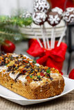 Fruitcake with dried fruits and nuts Stock Image