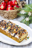 Fruitcake with dried fruits and nuts Stock Photos