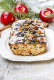 Fruitcake with dried fruits and nuts Royalty Free Stock Image