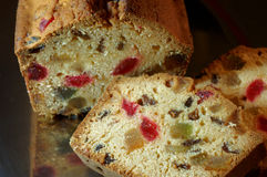 Fruitcake escarchado Fotografía de archivo libre de regalías