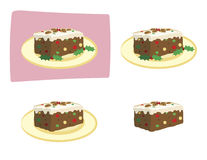 Fruitcake illustration Royalty Free Stock Images