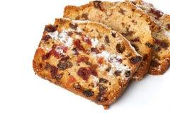 Fruitcake isolated Royalty Free Stock Images