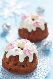 Fruitcake muffins Stock Photography