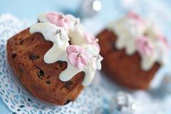 Fruitcake muffins Stock Photo