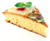 Fruitcake pie Royalty Free Stock Photography