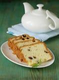 Fruitcake with raisin Stock Images