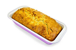 Fruitcake in a rectangular shape Royalty Free Stock Image