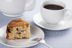 Fruitcake and Tea Stock Photos