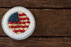 Fruitcake with 4th july theme Stock Photography