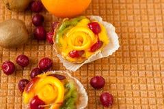 Fruitcakes, plaats voor tekst royalty-vrije stock afbeeldingen
