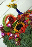 Fruitdecoratie Stock Foto's