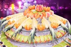 Fruitdienblad Royalty-vrije Stock Afbeeldingen