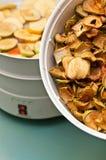 Fruitdroger met appelstukken Stock Fotografie