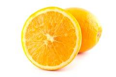 Fruite anaranjado sin semillas del ombligo de la rebanada fotografía de archivo libre de regalías