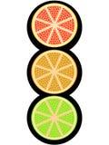 Fruitig licht signaal Stock Foto
