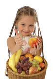 Fruitig meisje Stock Afbeelding