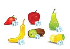 Fruitige aroma's met ijs Stock Afbeelding