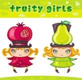 Fruitige meisjesreeks 2 royalty-vrije illustratie