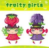 Fruitige meisjesreeks 6 royalty-vrije illustratie