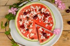 Fruitige pizza Royalty-vrije Stock Afbeeldingen