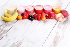 Fruitige smoothie Stock Foto