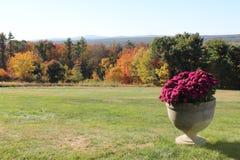 Fruitlands,俯视西马萨诸塞和Mt的远景小山 Wachusett 免版税库存照片