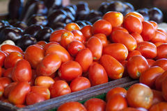 Fruitmarket in france, tomatoes. Fruitmarket in france, displaying tomatoes Stock Images