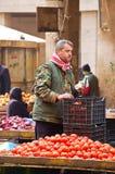 Fruitmarkt in de stad van Aleppo Stock Afbeelding