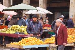 Fruitmarkt in de stad van Aleppo Stock Fotografie