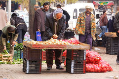 Fruitmarkt in de stad van Aleppo Royalty-vrije Stock Foto's