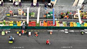 Fruitmarkt in Parijs, Frankrijk Royalty-vrije Stock Fotografie