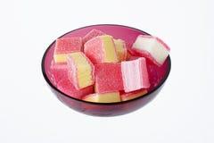 Fruitmarmelade in een glasvaas stock afbeelding