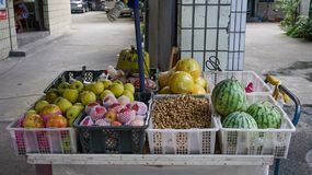 Fruitopslag in Chengdu, China royalty-vrije stock foto