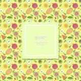 Fruitpatroon met banner voor tekst Vector illustratie Vector Illustratie