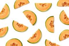 Fruitpatroon van meloenplakken royalty-vrije stock foto's