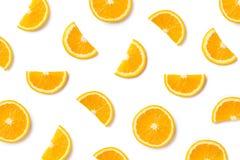 Fruitpatroon van oranje plakken royalty-vrije stock foto