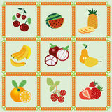 Fruitpictogrammen - Illustratie Stock Fotografie