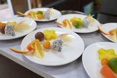 Fruitplaat Royalty-vrije Stock Foto