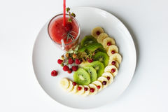 Fruitplaat stock afbeeldingen