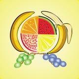 Fruitreeks vitaminen Royalty-vrije Stock Afbeeldingen