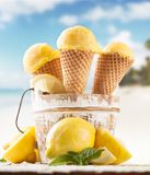 Fruitroomijs Stock Fotografie