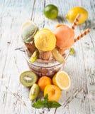 Fruitroomijs Stock Afbeeldingen