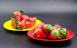 Fruits:strawberry. Strawberries also known as cranberry, ocean raspberries, raspberry and other places, is a red fruit Royalty Free Stock Photos