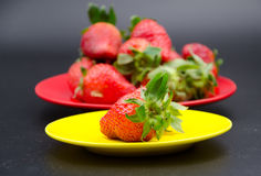 Fruits:strawberry. Strawberries also known as cranberry, ocean raspberries, raspberry and other places, is a red fruit Stock Images