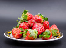 Fruits:strawberry. Strawberries also known as cranberry, ocean raspberries, raspberry and other places, is a red fruit Royalty Free Stock Photo