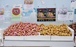 Fruits à vendre dans Chinatown, Singapour Photos stock