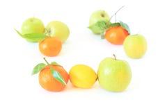 fruits белизна Стоковые Изображения RF