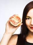 fruits женщина стоковое изображение