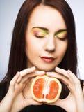fruits женщина стоковые фото